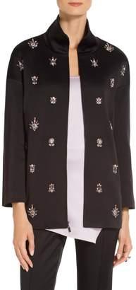 St. John Double Duchesse Satin Jacket