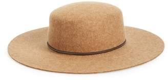 Frye Santa Fe Belted Wool Felt Boater Hat