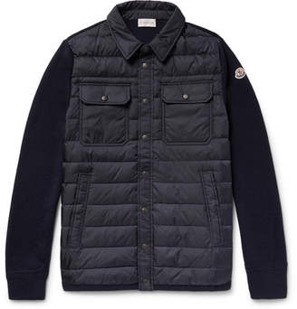 Moncler Panelled Virgin Wool-Blend And Quilted Shell Down Jacket