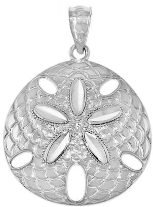 FINE JEWELRY Sterling Silver Sand Dollar Charm Pendant