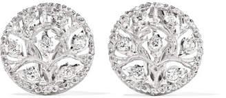 Buccellati Ramage 18-karat White Gold Diamond Earrings - one size