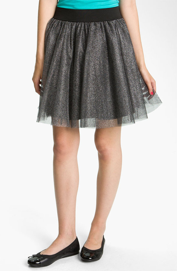 Necessary Objects Metallic Tulle Skirt (Juniors)