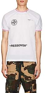 "Off-White Off - White c/o Virgil Abloh Men's ""Impressionism"" Athletic Mesh Jersey T-Shirt - White"