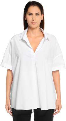 Marina Rinaldi Oversize Cotton Poplin Shirt