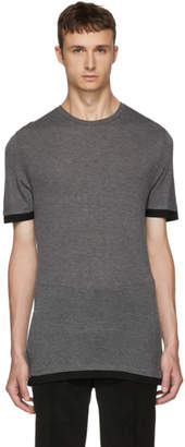 Neil Barrett Grey and Black Double T-Shirt