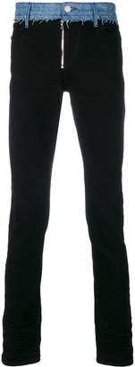 RtA slim-fit raw edge jeans