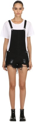 Victoria's Secret The People JOAN DESTROYED SHORT OVERALLS