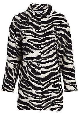 IRO Women's Bera Zebra Cocoon Coat