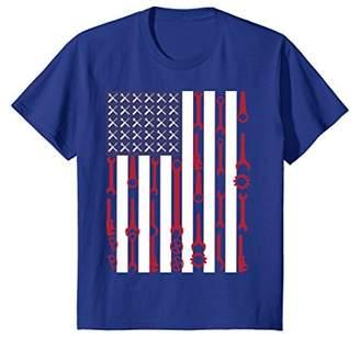 Mechanical Engineer Patriotic T-Shirt With US Flag Mechanic