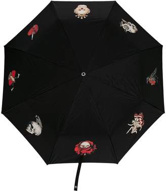 Alexander McQueen foldable skull handle umbrella