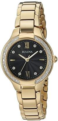 Bulova Women's Quartz and Stainless-Steel Casual Watch, Color:Gold-Toned (Model: 98R222) $105.98 thestylecure.com