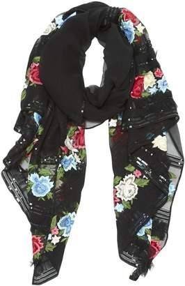 Escada Black Silk Scarves