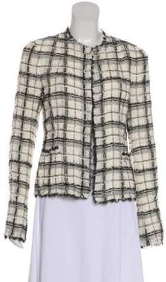 Chanel Tweed Lace-Trimmed Jacket black Tweed Lace-Trimmed Jacket