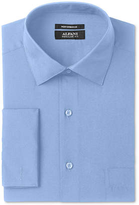 Alfani AlfaTech by Men Classic/Regular Fit Solid French Cuff Dress Shirt