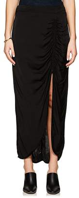 Raquel Allegra Women's Ruched Charmeuse Midi-Skirt