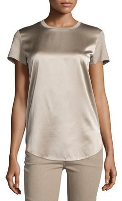 Ralph Lauren Collection Short-Sleeve Combo T-Shirt, Taupe $450 thestylecure.com