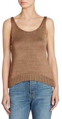 Vince Silk Crop Tank Top