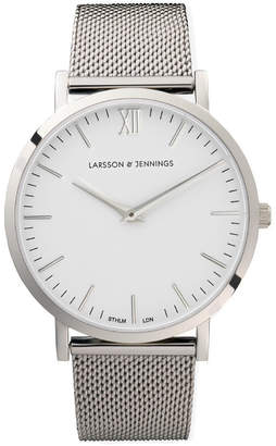 Larsson & Jennings Lugano 40mm Silver Chain Metal Watch