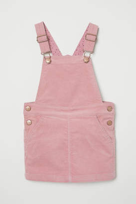 H&M Corduroy Bib Overall Dress - Pink