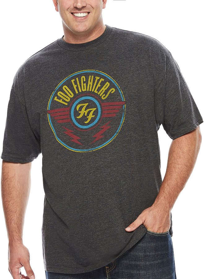 Novelty T-Shirts New World Short-Sleeve Foo Fighters Tee - Big & Tall
