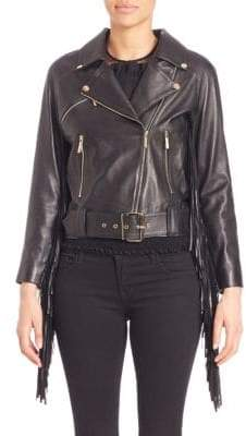 Elie Saab Tassel Leather Jacket