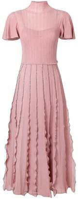 RED Valentino ruffled knitted dress