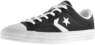 b7c6c738df3a1a Converse Star Player OX Leather Trainers Black