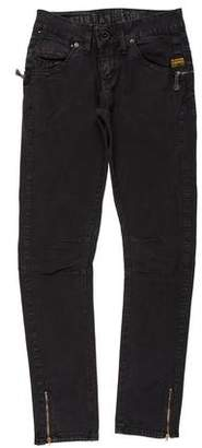 G Star Mid-Rise Straight-Leg Jeans