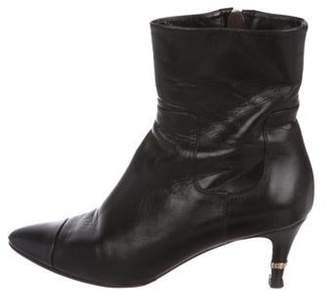 Chanel Leather Mid-Calf Boots Black Leather Mid-Calf Boots