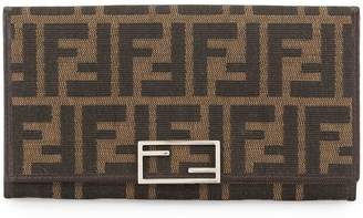 Fendi Pre-Owned Zucca pattern bifold wallet purse