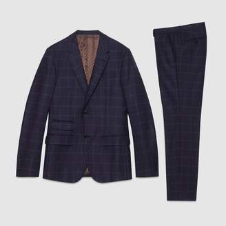 Gucci New Signoria window check flannel suit