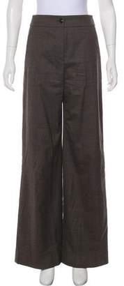 Emporio Armani Virgin Wool High-Rise Pants
