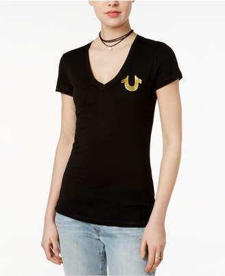 True Religion Metallic Logo T-Shirt