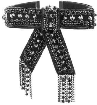 Steve Madden Curb Chain Tassel Choker