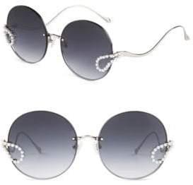 For Art's Sake 57MM Passion Fruit Round Sunglasses