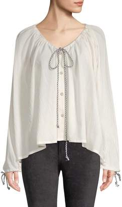 Endless Rose Women's Tie-Front Drape Blouse