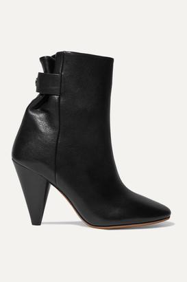 Isabel Marant Lystal Leather Ankle Boots - Black