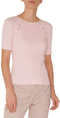 Akris Punto Grommet Detail Knit Top