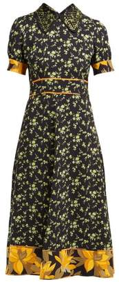No.21 No. 21 - Crystal Embellished Crepe Dress - Womens - Black Multi