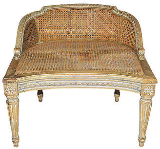 One Kings Lane Vintage Antique Caned French Seat - House of Charm Antiques