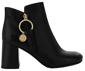 See by Chloe Women's Louise Leather Block-Heel Booties