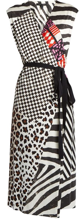 Marc Jacobs MARC JACOBS Contrast-print sleeveless jersey wrap dress