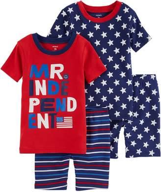"""Carter's Toddler Boy Mr. Independent"""" Stars & Stripes Tops & Bottoms Pajama Set"""