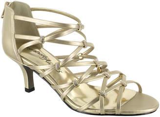 Easy Street Shoes Nightingale Womens Pumps Zip Open Toe Spike Heel