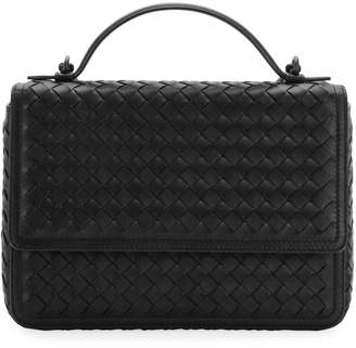 Bottega Veneta Woven Leather Flap Top Handle Bag