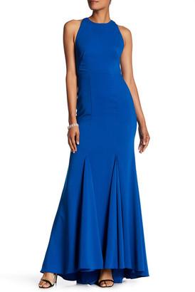 Carmen Marc Valvo Infusion Mesh Back Dress $350 thestylecure.com