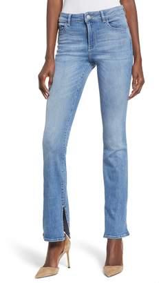 DL1961 Bridget Split Hem Bootcut Jeans