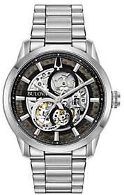 Bulova Men's Stainless Steel Skeleton Watch