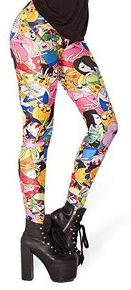 HuntGold Woen Cartoon Digital Printing Adventure Tie Leggings Sooth Elastic Pantyhose Pants Sockings