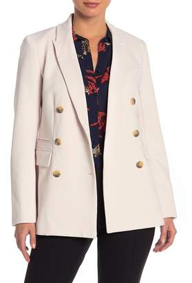 Rachel Roy COLLECTION Double Breasted Solid Blazer